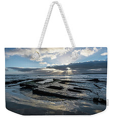 Shipwreck And Sun Rays Weekender Tote Bag