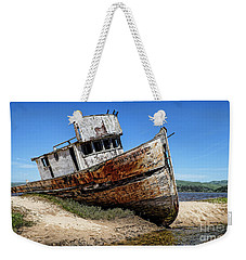 Weekender Tote Bag featuring the digital art Shipwreck by Jason Abando