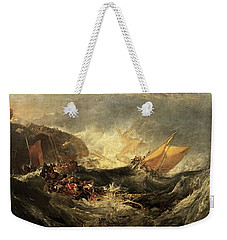 Shipwreck Of The Minotaur Weekender Tote Bag by J M William Turner