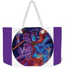 Shiva And Krishna Weekender Tote Bag