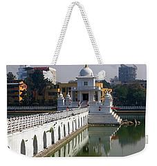 Weekender Tote Bag featuring the photograph Shiva Temple In Lake Rani Pokharil, Kathmandu, Nepal by Aidan Moran