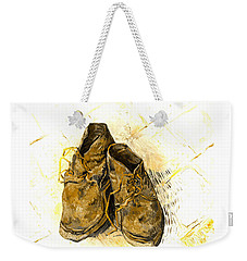 Weekender Tote Bag featuring the photograph Shoes by John Stephens