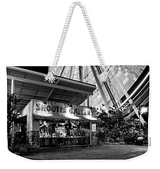 Shootin Gallery At The Wheel In Black And White Weekender Tote Bag