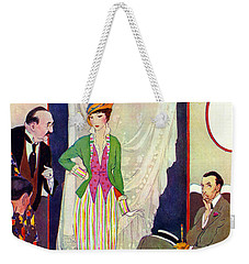 Weekender Tote Bag featuring the photograph Shopping 1914 by Padre Art