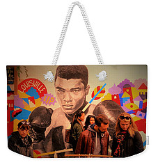Shopping In Brooklyn With Mohamed Ali Weekender Tote Bag by Funkpix Photo Hunter