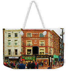 shopping on Grafton Street in Dublin Weekender Tote Bag