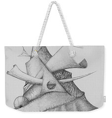 Weekender Tote Bag featuring the drawing Plasma Tree by Charles Bates