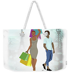 Shopping With Style In Paris Weekender Tote Bag