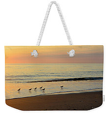 Weekender Tote Bag featuring the photograph Shorebirds 9/4/17 by Barbara Ann Bell