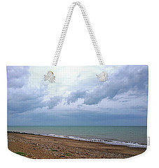 Weekender Tote Bag featuring the photograph Shoreham Shoreline by Anne Kotan