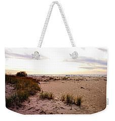 Weekender Tote Bag featuring the photograph Shoreline At Dusk by Michelle Calkins