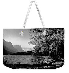 Shoreline Black And White Weekender Tote Bag