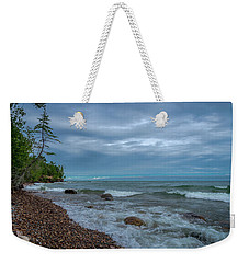 Shoreline Clouds Weekender Tote Bag