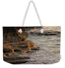 Shoreline In Bimini Weekender Tote Bag