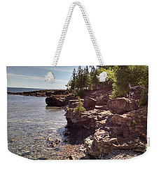 Shoreline In The Upper Michigan Weekender Tote Bag