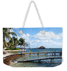 Weekender Tote Bag featuring the photograph Shoreline by Lawrence Burry