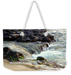 Weekender Tote Bag featuring the photograph Shoreline by Lori Seaman