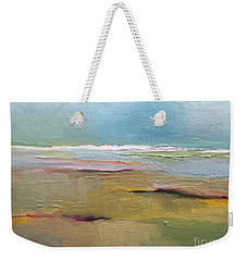 Weekender Tote Bag featuring the painting Shoreline by Michelle Abrams
