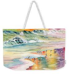 Shoreline Watercolor Weekender Tote Bag by Melly Terpening