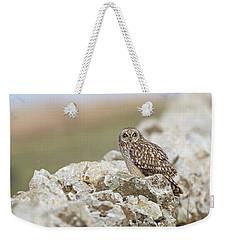 Short-eared Owl In Cotswolds Weekender Tote Bag