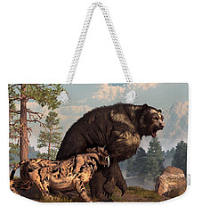 Short-faced Bear And Saber-toothed Cat Weekender Tote Bag