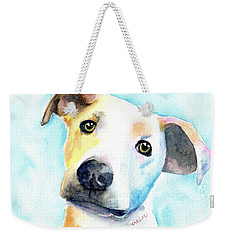 Short Hair White And Brown Dog Weekender Tote Bag