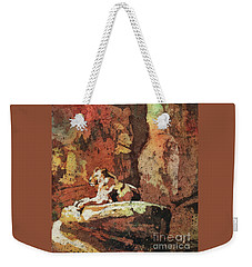 Weekender Tote Bag featuring the painting Short Reprieve by Ryan Fox