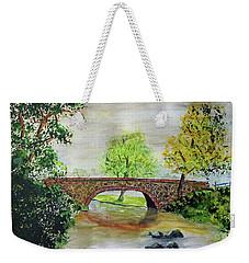 Shortcut Bridge Weekender Tote Bag by Jack G Brauer