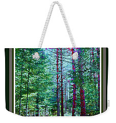 Weekender Tote Bag featuring the photograph Shortcut Thru The Woods by Shirley Moravec