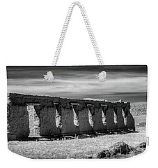 Weekender Tote Bag featuring the photograph Shoulder To Shoulder by James Barber