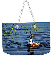 Weekender Tote Bag featuring the photograph Shoveler by Jean Noren