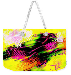 Weekender Tote Bag featuring the painting Show Car by Jim Vance