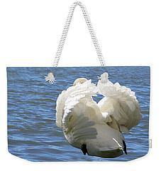Showboating Swan   Weekender Tote Bag