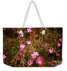 Shower Of Pink Weekender Tote Bag by Cassandra Buckley