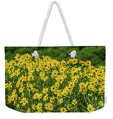 Weekender Tote Bag featuring the photograph Showy Goldeneye by Sue Smith