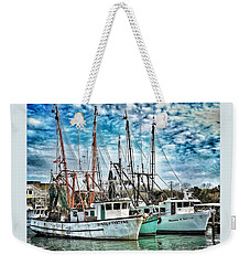 Shrimp Boats Weekender Tote Bag