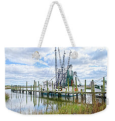 Shrimp Boats Of St. Helena Island Weekender Tote Bag