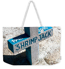 Weekender Tote Bag featuring the photograph Shrimp Jack by Lawrence Burry
