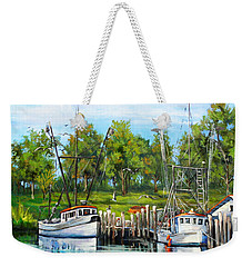 Shrimping Boats Weekender Tote Bag