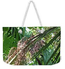Weekender Tote Bag featuring the digital art Shrub In Tree Art by Francesca Mackenney
