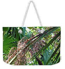 Weekender Tote Bag featuring the photograph Shrub In Trees Contrast by Francesca Mackenney