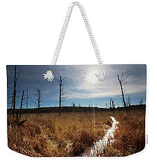 Weekender Tote Bag featuring the photograph Shrub Swamp by Sue Collura