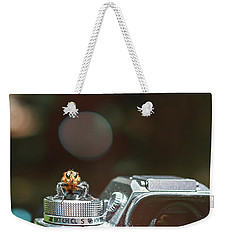 Weekender Tote Bag featuring the photograph Shutterbug- by JD Mims
