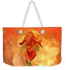 Shy Iris Weekender Tote Bag by Marsha Heiken