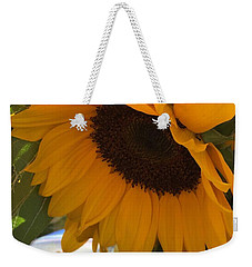 Shy Sunflower Weekender Tote Bag by Nance Larson