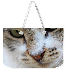 Weekender Tote Bag featuring the photograph Shyness by Munir Alawi