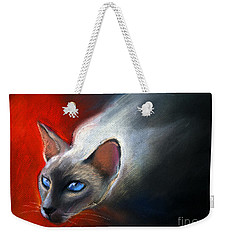 Siamese Cat 7 Painting Weekender Tote Bag
