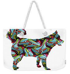 Siberian Husky Spirit Glass Weekender Tote Bag