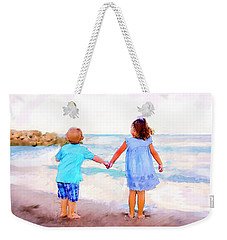 Sibling At Sunset Weekender Tote Bag