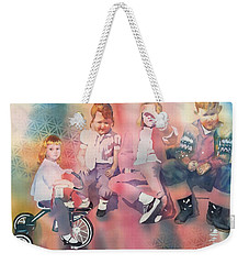 Siblings And Cousins, Circa 1950-1963 Weekender Tote Bag by Tara Moorman